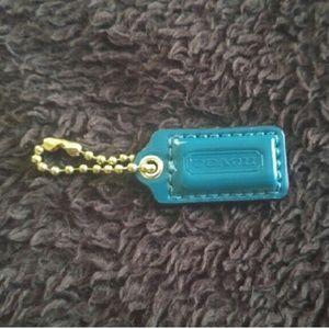 Coach mini hangtag  in Teal
